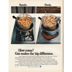 "1967 American Gas Association Ad ""Spuds. Duds."""