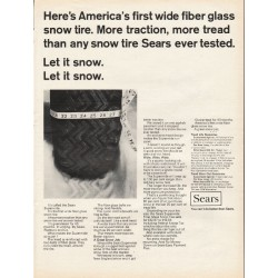 "1967 Sears Snow Tire Ad ""fiber glass snow tire"""