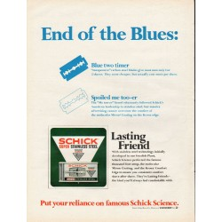 "1967 Schick Science Ad ""End of the Blues"""