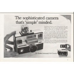 "1967 Kodak Instamatic 804 Camera Ad ""The sophisticated camera"""