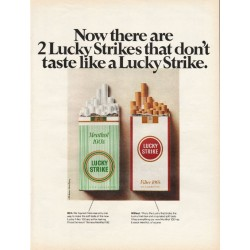 "1967 Lucky Strike Cigarettes Ad ""Now there are 2"""