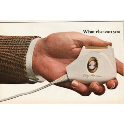 "1967 Sears Lady Kenmore Shaver Ad ""What else can you give"""