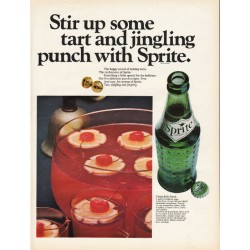 "1967 Sprite Soda Pop Ad ""Stir up some tart"""
