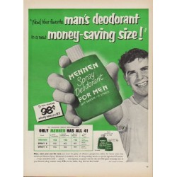 "1952 Mennen Ad ""Your favorite man's deodorant"""