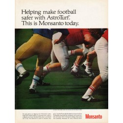 "1967 Monsanto AstroTurf Ad ""make football safer"""