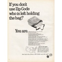 "1967 Advertising Council -- Zip Codes Ad ""holding the bag"""