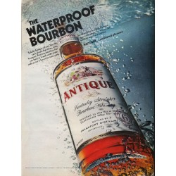 "1967 Antique Bourbon Whiskey Ad ""The Waterproof Bourbon"""