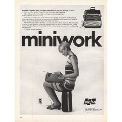"1967 SCM Corporation Ad ""Miniwork is efficient work"""