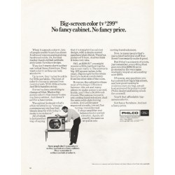 "1967 Philco Television Ad ""Big-screen color tv"""