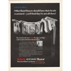 "1967 Schick Razor Ad ""Other Band Razors"""