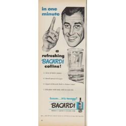 "1952 Bacardi Ad ""in one minute"""