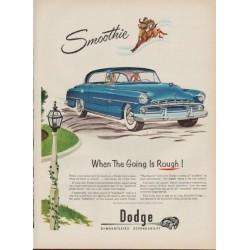 "1952 Dodge Ad ""Smoothie"""