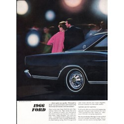 "1966 Ford LTD Ad ""For 1966, Quiet Quality"" ~ (model year 1966)"