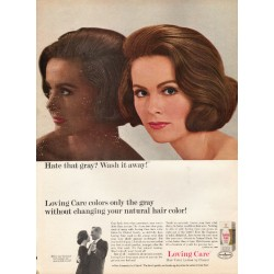 "1965 Loving Care Hair Color Ad ""Hate that gray?"""
