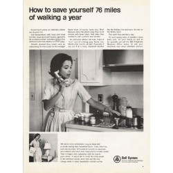 "1965 Bell System Ad ""save yourself 76 miles of walking"""