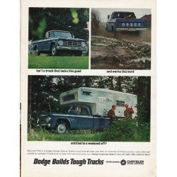 "1966 Dodge Camper Special Ad ""a truck that looks this good"" ~ (model year 1966)"
