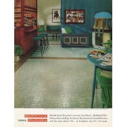 "1965 Kentile Vinyl Floors Ad ""Dutch treat"""