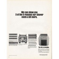 "1965 Remington Shaver Ad ""We can show you"""