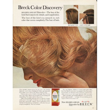 "1965 Breck Haircolor Ad ""Breck Color Discovery"""