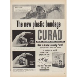 "1952 Curad Ad ""The new plastic bandage"""
