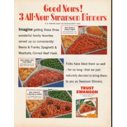 "1965 Swanson TV Dinner Ad ""Good News!"""