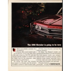 "1966 Chrysler Newport Ad ""very hard to resist"" ~ (model year 1966)"