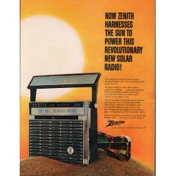 "1965 Zenith Radio Ad ""harnesses the sun"""