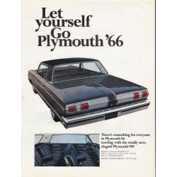 "1966 Chrysler Plymouth Ad ""Let yourself Go Plymouth '66"" ~ (model year 1966)"