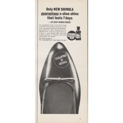 "1965 Shinola Shoe Polish Ad ""Only NEW SHINOLA"""