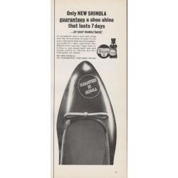 """1965 Shinola Shoe Polish Ad """"Only NEW SHINOLA"""""""