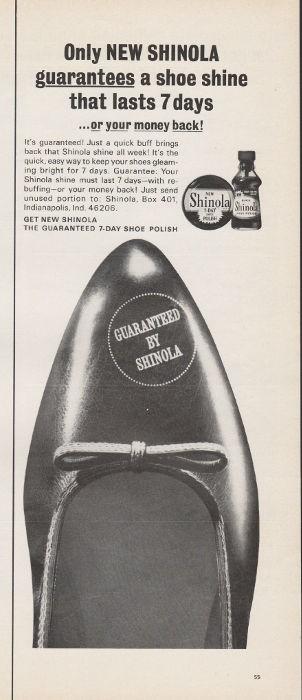 1965 Shinola Shoe Polish Vintage Ad Quot Only New Shinola Quot
