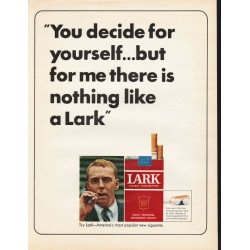 "1965 Lark Cigarettes Ad ""You decide for yourself"""