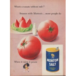 "1952 Morton Salt Ad ""What's a tomato without salt?"""
