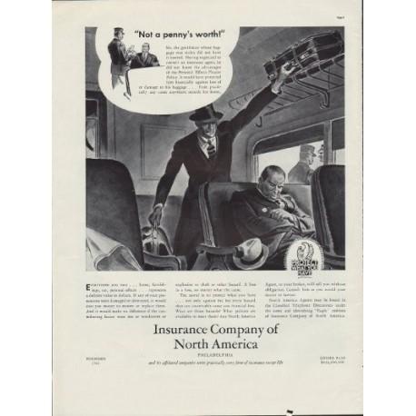1938 Insurance Company of North America Ad