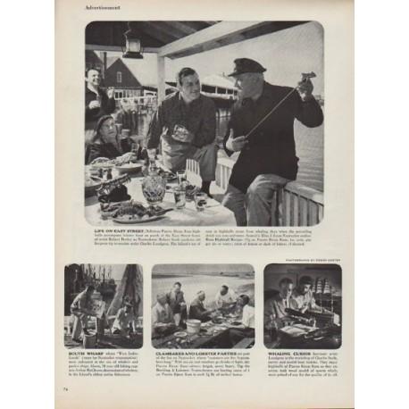 "1952 Rums of Puerto Rico Ad ""Nantucket"""