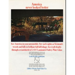"1965 Libbey Owens Ford Glass Ad ""America never looked better"""