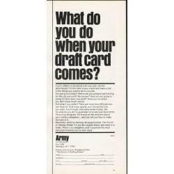 "1965 U.S. Army Ad ""when your draft card comes"""