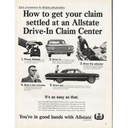 "1965 Allstate Insurance Ad ""How to get your claim"""