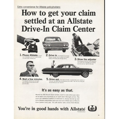 """1965 Allstate Insurance Vintage Ad """"How to get your claim"""""""