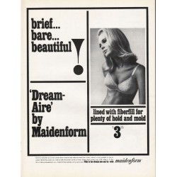 "1965 Maidenform Bra Ad ""brief... bare... beautiful"""