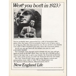 "1965 New England Life Ad ""born in 1923"""