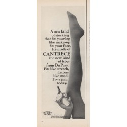 "1965 Du Pont Stocking Ad ""new kind of stocking"""