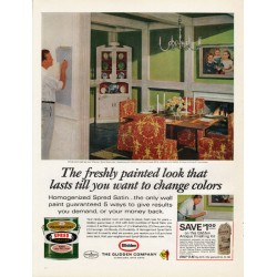 "1965 Glidden Paint Ad ""The freshly painted look"""