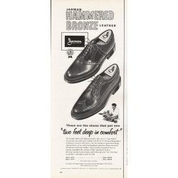 "1965 Jarman Shoes Ad ""Hammered Bronze"""