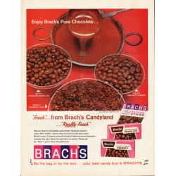"1965 Brach's Candy Ad ""Pure Chocolate"""
