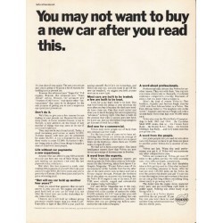 "1965 Volvo Ad ""after you read this"" ~ ad date: October 1965"