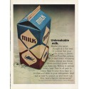 "1965 Pure-Pak Cartons Ad ""Unbreakable milk"""