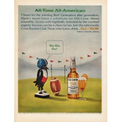 "1965 Old Crow Whiskey Ad ""All-Time All-American"""