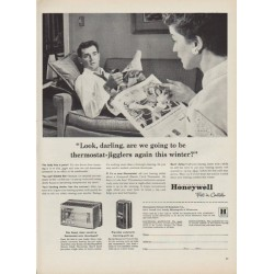 "1952 Honeywell Ad ""thermostat-jigglers"""