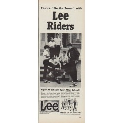 "1952 Lee Riders Ad ""You're ""On the Team"""""